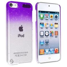 INSTEN Snap-on Case For Apple iPod touch 5th Generation, Clear Purple Waterdrop. at walmart