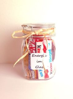 Energy in the glass - Saint Valentin Navidad Diy, Jar Gifts, Birthday Presents, Creative Gifts, Little Gifts, Stampin Up, Diy And Crafts, Projects To Try, Birthdays