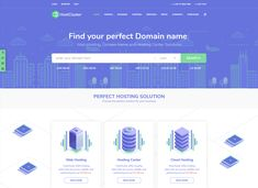 Top 23 Hosting and Digital Business WordPress Themes to Build Your Website Today - Colorlib Wordpress Theme Design, Best Wordpress Themes, Website Themes, Website Template, Finding Yourself, Web Design, Templates, Digital, Business