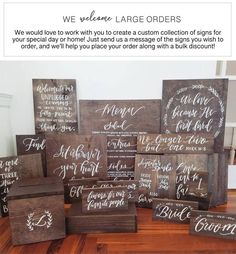 1 Corinthians 13 Aisle Signs, Hand Painted Wooden Wedding Signs, Set of Rustic Wedding Signs, Love Is Patient, Ceremony Wooden Wedding Signs, Wedding Welcome Signs, Wedding Thank You, Diy Wedding, Wedding Favors, Wedding Flowers, Wedding Day, Wedding Venues, Wedding Season