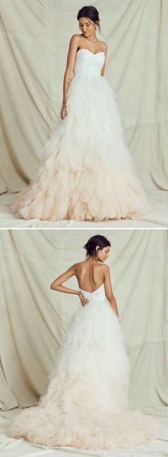Make your wedding dreams come true with a Kelly Faetanini dress. Our unique wedding gown designs embody classic style with an elegantly modern twist. Unique Wedding Gowns, Designer Wedding Gowns, Wedding Veils, Ombre Wedding Dress, One Shoulder Wedding Dress, Dream Wedding, Wedding Day, Wedding Honeymoons, Tiana