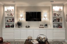 Exceptionnel Image Result For White Built In Tv Cabinets · Living Room ...