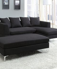 Ainsley 3 Pc Sectional With Chaise Amp 6 Throw Pillows