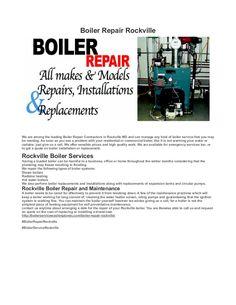 #BoilerRepairRockville #BoilerServiceRockville