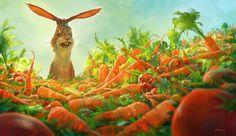 Watership down carrots, Nikolai Lockertsen on ArtStation at https://www.artstation.com/artwork/0oqW5