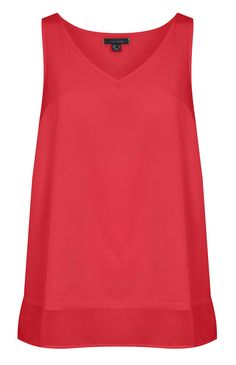 Camisola roja con bajo a capas