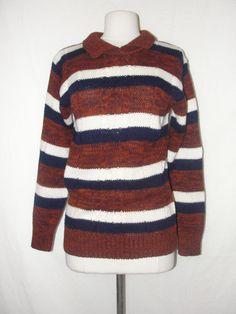 Vintage 80's black stripe CUTE sweater WHOLESALE $10 www ...