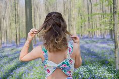 Olivia Poncelet Blog Wood fairy spring Pepe Jeans Dress floral fashion