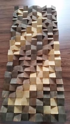 Wood Wall Art with Sound Diffusing Properties New Design for Wooden Wall Art, Wooden Walls, Acoustic Design, Music Studio Room, Reclaimed Wood Art, Into The Woods, Wall Sculptures, Art Decor, Home Decor
