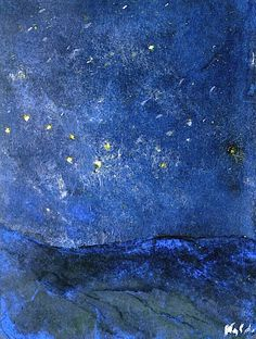 STARRY SKY Emile Nolde (German~Danish 1867~1956) | He was one of the first Expressionists, a member of Die Brücke.