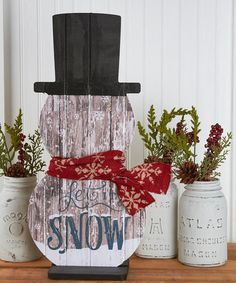 Love this Unfinished Etched Snowman Décor on #zulily! #zulilyfinds