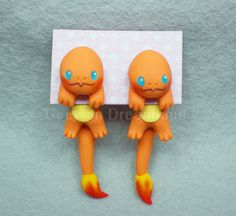 Charmander Pokemon Handmade Clinging Earrings by GeekonDreamland