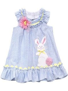 Girls Easter Dress Periwinkle Bunny Dress 3 to 24 Months ONLY Easter Dresses For Toddlers, Easter Outfit For Girls, Girls Easter Dresses, Little Girl Dresses, Girls Dresses, Toddler Dress, Toddler Outfits, Toddler Girl, Kids Outfits