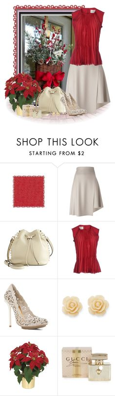 """saia envelope"" by sil-engler ❤ liked on Polyvore featuring 08 Sircus, Rebecca Minkoff, Maison Margiela, BCBGMAXAZRIA, Draper James and Gucci"