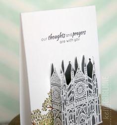 Card #1 of 5 - Altenew's Sketchy Landmarks. Make it 3D!