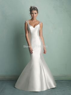 2014 Illusion Back Mermaid Wedding Dresses 2014 Beading Bridal Gowns Satin Cap Sleeve Free Shipping WH2081