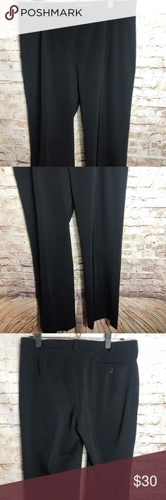 """✨Max Mara Trousers ✨ Max Mara Weekend Womens Black Trouser Chino Dress Stretch Career Pants Italy 12   Pre-owned No rips, tears, marks or stains Please see pictures for details  Laying Flat •Waist = 17inches •Inseam = 34"""" •Front rise = 10.5"""" •Leg opening = 10.5"""" Max Mara Pants Trousers"""