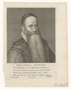 Portret van Eduardus Poppius (1577-1624), remonstrants predikant te Gouda - Geheugen van Nederland