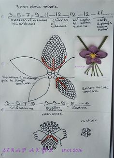 # costura - ideas hermosas y diferentes Needle Tatting, Tatting Lace, Needle Lace, Bobbin Lace, Crochet Flower Patterns, Tatting Patterns, Crochet Flowers, Hand Embroidery Patterns, Wire Crochet