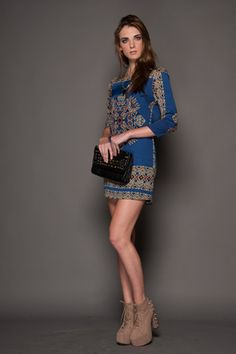 Aztec Blue Dress - $56.00