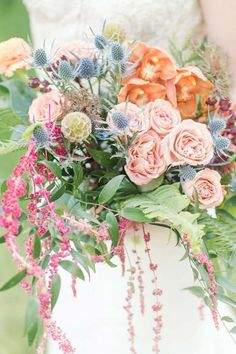 Theres nothing conventional about this quirky colorful bouquet. Wedding Flower Guide, Summer Wedding Bouquets, Flower Bouquet Wedding, Floral Wedding, Bride Flowers, Whimsical Wedding Flowers, Wedding Bride, Bridal Bouquets, Diy Flowers