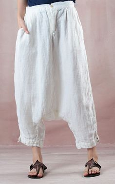 White Casual Women Summer Pants - Healty fitness home cleaning Paperbag Hose, Summer Pants, Plus Size Pants, White Casual, Sport Pants, Pants Pattern, Mode Inspiration, Womens Fashion Online, Looks Great