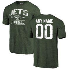 6bfa04b73 Men Black New Orleans Saints Distressed Custom Name and Number Tri-Blend  Custom NFL T-Shirt