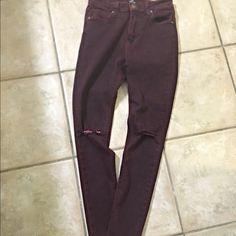 Bundle for @rebeccaberry just black burgundy jeans- en Creme backless dress Other