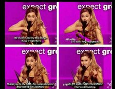 Ariana Grande Best New Artist AMAs! So awesome!