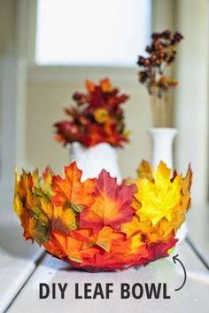 Cuenco hojas #decoupage