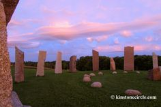 The stones in the morning with some beautiful pink clouds. (Sept. 2014)