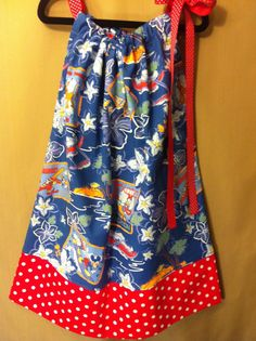 Pillowcase Dress in Disney Hawaiian Holiday and by lollimollybows, $31.95