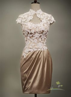 Page/bridesmaid dress/bridal dress/lace/vintage style/evening gown/lace/custom made/all size. $280.00, via Etsy.