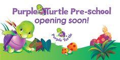 Purple Turtle Pre School Opening Soon! Purple Turtle, School Opening, School Videos, Early Learning, Pre School, Homeschool, Nursery, Invitations, Digital