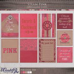 Steam Pink - Journaling Cards | WendyP Designs