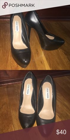 Steve Madden Black Pumps Black Leather Steve Madden Pumps Steve Madden Shoes Heels