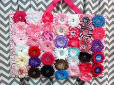 Display those girly hair accessories with this #DIY #Bow and #Headband Board.