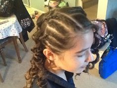 truly just me: Curls plus cornrows love this hairstyle