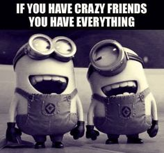 IF YOU HAVE CRAZY FRIENDS YOU HAVE EVERYTHING. ~ I don't know about having everything, but i know one thing for sure you have a heck of lot. ~