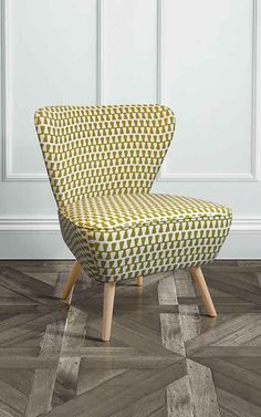 Delilah Kelp Retro Occasional Chair with Natural Oak Legs