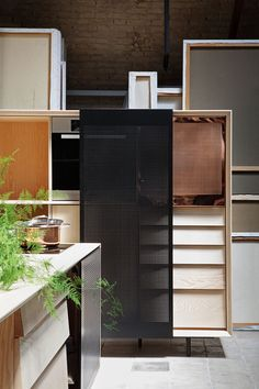 """MUT Design uses copper, marble and ash for """"seductive"""" freestanding kitchen. Float kitchen by MUT Tile Design, Wood Design, Kitchen Interior, Kitchen Design, House Arch Design, Two Tone Kitchen Cabinets, Kitchen Units, Kitchen Island, Copper And Marble"""