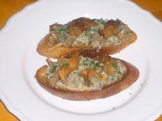 Creamy Oyster & Wild Mushroom Crostini