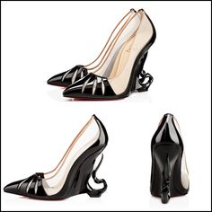 Angelina Jolie's Christian Louboutin heels for Maleficent -- from all the angles!