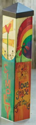 Magnet Works Ltd - Live 20 inch Art Pole State-of-the-art reproduction of hand-painted wood burned decorative cedar poles.This Art Pole is a perfect way to honor a loved one or family pet. Peace Pole, Garden Poles, Pole Art, Painted Sticks, Outdoor Art, Garden Art, Garden Ideas, Glass Garden, Garden Crafts