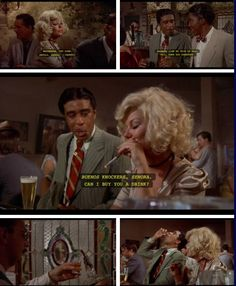 The Bingo Long Traveling All-Stars and Motor Kings (1976) Part V…Charlie Snow aka Carlos Nevada (Richard Pryor) moves on to a pretty señorita (Ahna Capri) at the bar in search for a good time. Jack is still present at the festivities