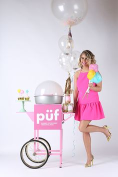 Social Bites in Downtown Ruston, LA — Püf offers a full-service mobile Cotton Candy cart + event catering services that includes our Püf Cotton Candy cart, our Püf Cotton Candy machine, spinning artist, cones, and selected flavors.