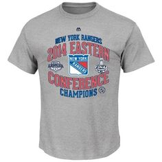 New York Rangers Majestic 2014 NHL Eastern Conference Champions Five Hole Official Locker Room T-Shirt - Gray