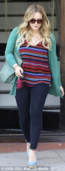 Hilary Duff's casual outfit, love the colours!