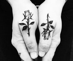 small matching tattoo ideas roses