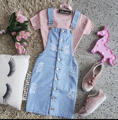 Modest Casual Outfits, Cute Skirt Outfits, Casual School Outfits, Stylish Dresses, Pretty Outfits, Beautiful Outfits, Cute Dresses, Girls Fashion Clothes, Teen Fashion Outfits